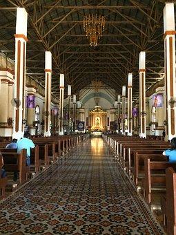 Church, Kneel, Pray, Solemn, Vintage, Old, Bench