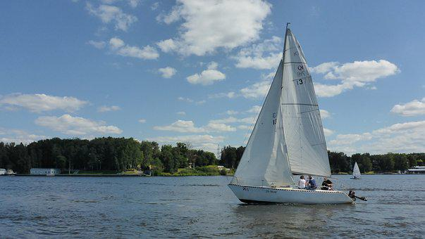 Sails, Regatta, Boat, Reservoir, Water, In The Water