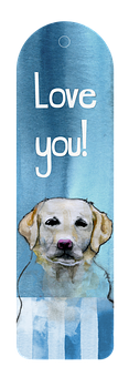 Bookmark, Dog, Stationary, Read, Book, Watercolor, Love
