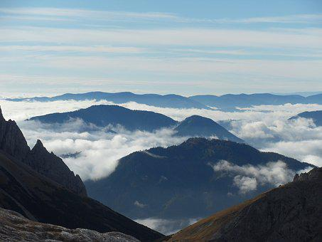 Mountains, Clouds, Mood, Alpine Scenery, Climbing