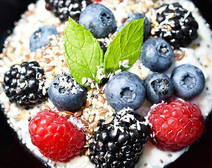 Food, Breakfast, Yogurt, Blueberries, Berries, Fitness