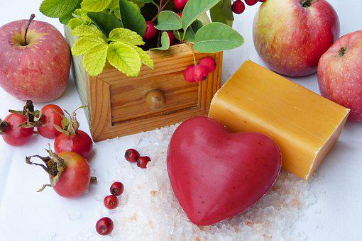 Soap, Heart, Red, Orange, Fruits, Autumn, Rose Hip