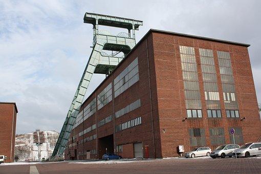 Bill, Colliery Herten Germany, Herten, Ewald, Headframe
