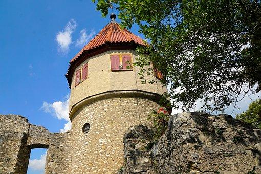 Honing Mountain, Tuttlingen, Summer, Ruin, Nature
