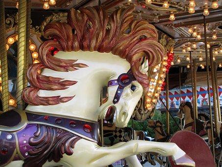 Carousel Horse, Folk Festival, Hustle And Bustle