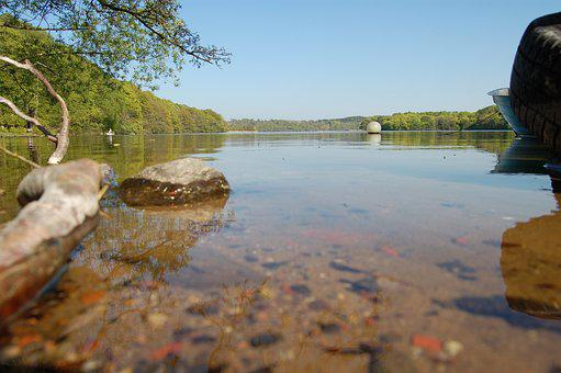 Hald Lake, View, Water, Lake, Natural, Sky, Landscape