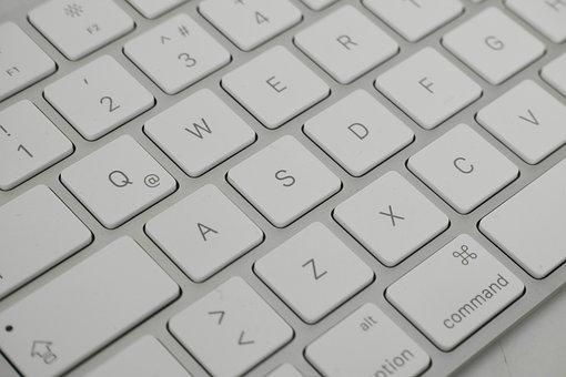 Keyboard, Letters, Key, Print, White, Detail, Macro