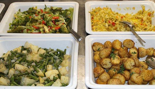 Fresh Food, Salads, Potatoes, Beans, Green, Meal