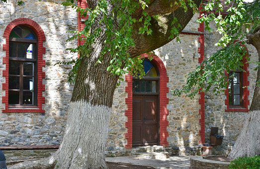Tree, Building, Nei Pori, Platamonas, Greece