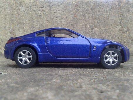 Car, Game, Game Car, Blue Car, Sports Car, Nissan, 350z
