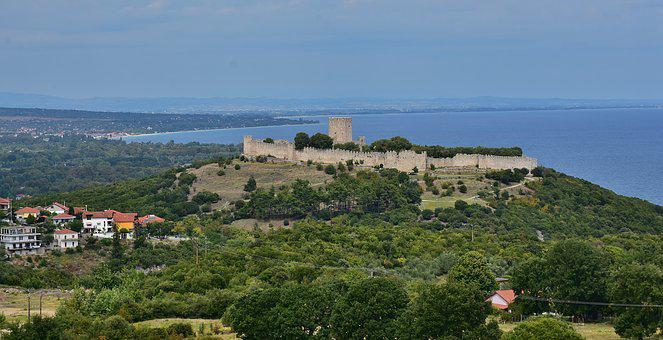 Castle, Platamon, Village, Platamonas, Greece