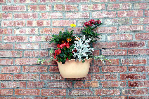 Red Brick Wall, Pots, Walls