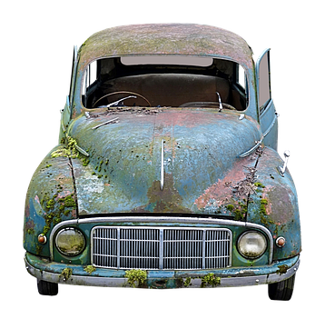 Auto, Old, Scrap, Moss, Broken, Wreck, Rusted, Oldtimer