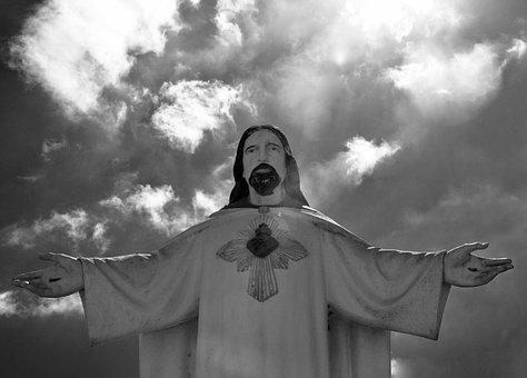 Statue, Jesus Christ, Open Arms, Religion, Belief