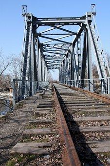 Bridge, Rails, Trains, Railway, The Way