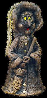 Figure, The Witch, Ceramic, Souvenir, Mitbringsel