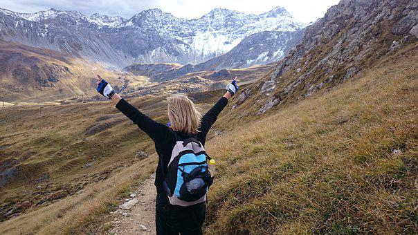 Happiness, Joy, Mountains, The Alps, Wandering