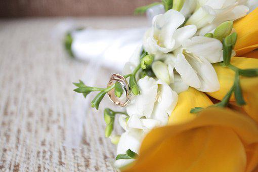 Wedding, Flowers, Calla Lilies, Yellow
