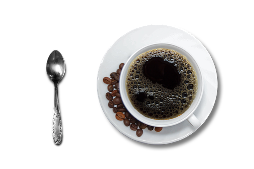 Coffee, Cup And Saucer, Black Coffee, Tea Spoon