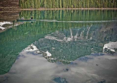 Lake, Mountain Scene, Forest, Trees, Landscape, Nature