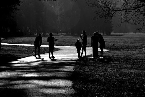 Early Morning, Runners, Black And White, Path, Road