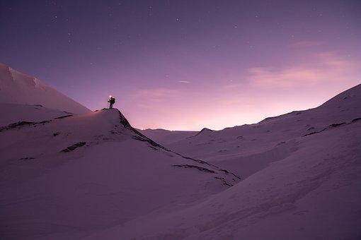 Snow, Randonée, Blue, Adventure, Mountain, Nature