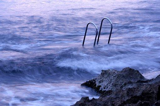 Sea, Water, Edge Of The Sea, Beach, Sea Foam, Blue