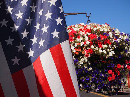 Labor Day, America, Usa, Flag, National, Red, White