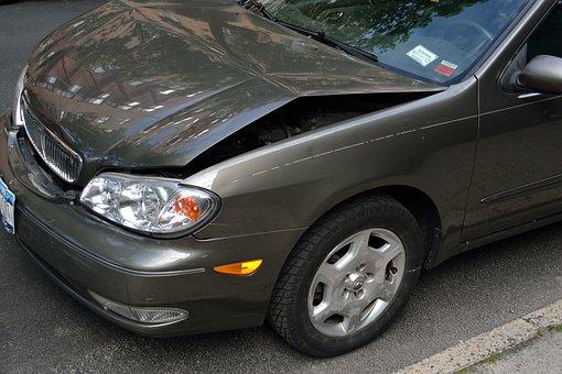 Crashed Car, Damage, Dent, Hood, Crash, Accident, Car