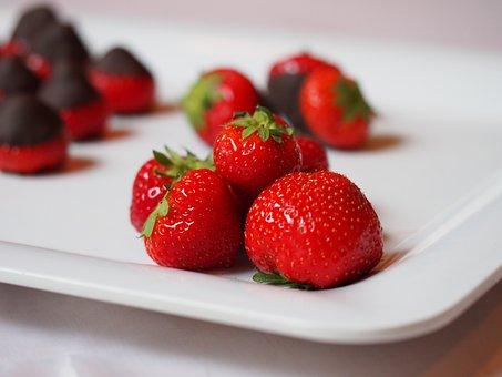 Strawberry, Fruit, Fruits, Dessert, Chocolate