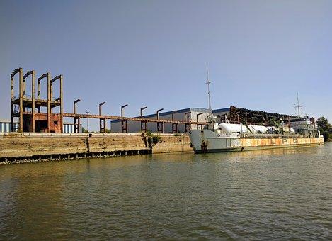 Danube, Galati, Romania, Ship, Vessel, Lpg, River
