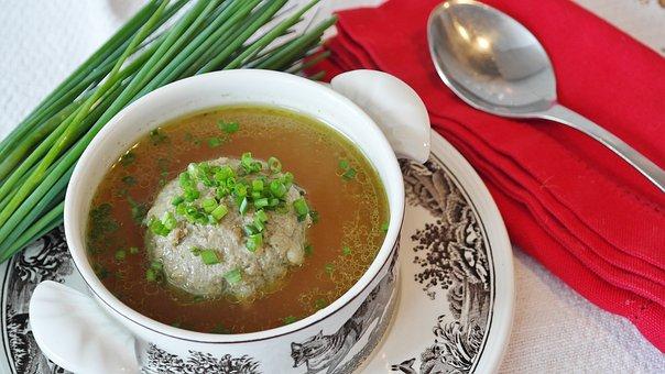 Soup, Liver Dumplings, Liver Dumpling Soup, Dumpling