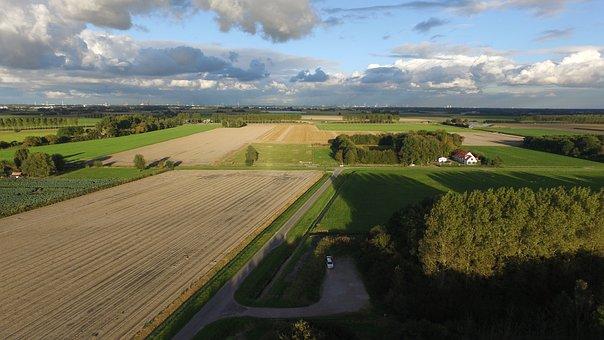 Air, Polder, Dutch Landscape, Of Course, Landscape
