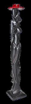 Woman, Figure, Carved, Holzfigur, Naked, Female, Bosom