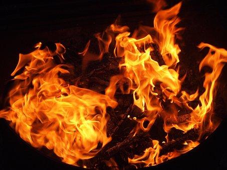 Fire, Flame, Hot, Coal, Black, Firewood, Heat, Burn