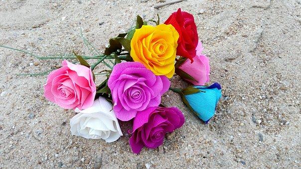 Flowers, Handmade, Artificial, Floral, Decoration