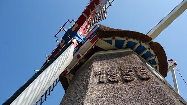Mill, Wind Mill, Mill Blades, Historic Mill