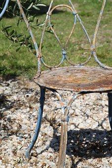 Chair Old, Metal Chair, Chair Garden, Chair, Metal