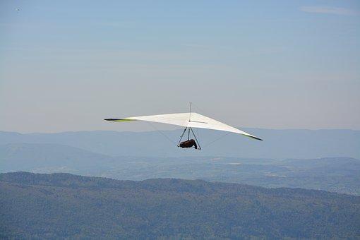 Hang Gliding, The Delta, Haute Savoie, Mountain
