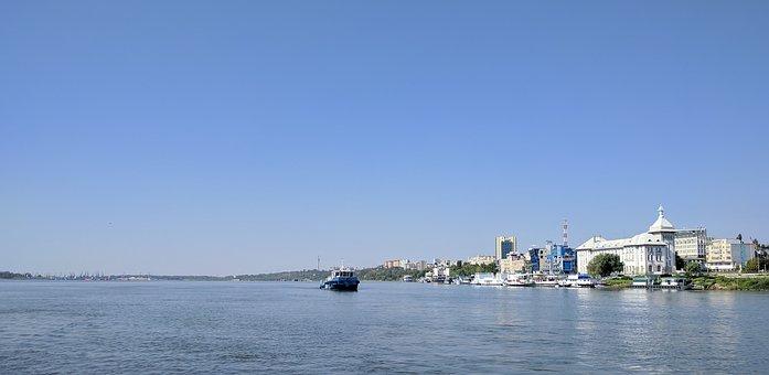 Danube, Galati, Romania, Water, River, Ship, Navigation