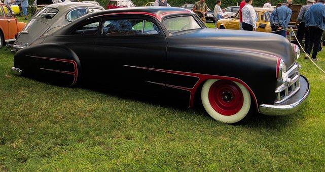 Chevrolet 1951, Veteran, Old, Car, American, Retro