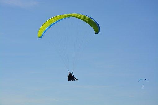 Paragliding, Blue Sky, Annecy, High Alps, France