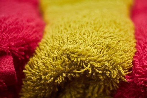 Yellow, Towel, Cotton, Soft, Kurlamak, Wet, Dry