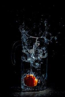Splash, Water, Tomato In Water, Liquid, Water Drops