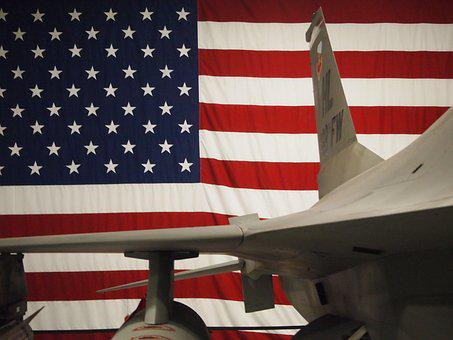 Labor Day, Aircraft, Flag, Usa, America, Airforce, Jet
