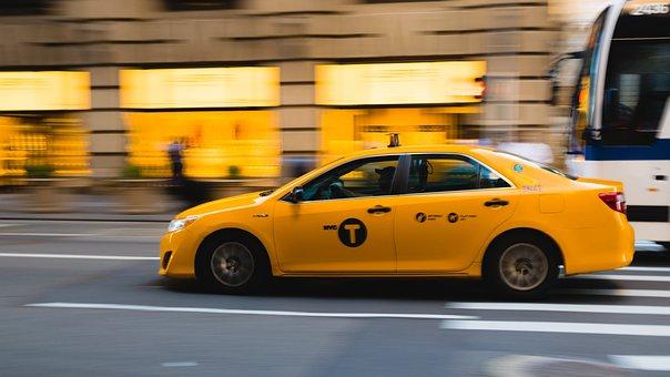 Taxi, New York, Yellow Cab, Nyc, America, Usa