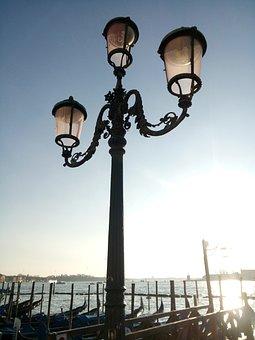 Venice, Lamppost, Sky, Street Lamp