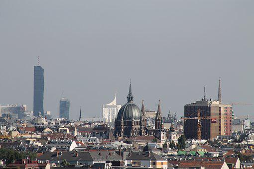 Vienna, Outlook, Panorama, City, Downtown