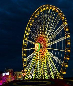 Fair, Colorful, Lights, Year Market, Folk Festival