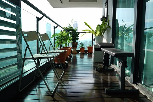 Balcony, Airy, Morning, Property, View, Shades